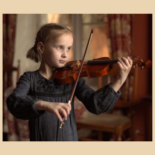 Lust am Lernen, Mädchen mit Violine